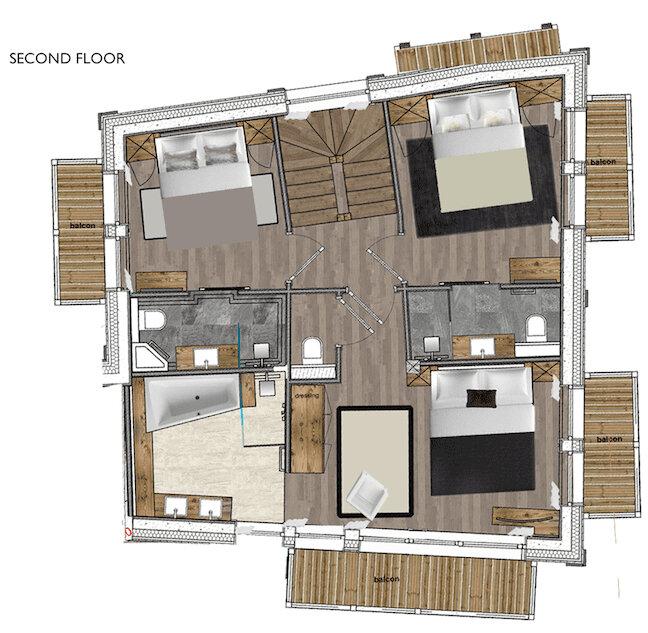 Chalet White Courchevel Floor Plan 3