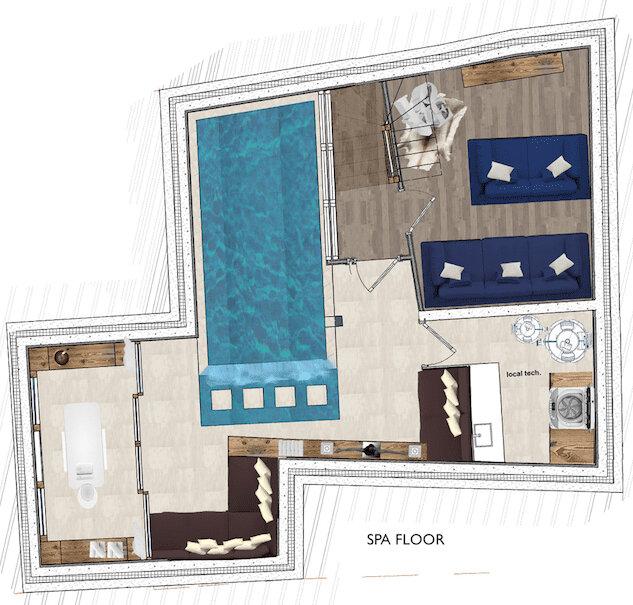 Chalet White Courchevel Floor Plan 1