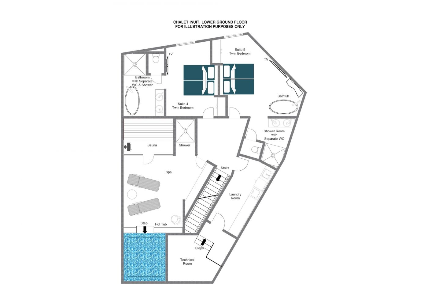 Chalet Inuit (Contactless Chalet Catering) Val d'Isere Floor Plan 3