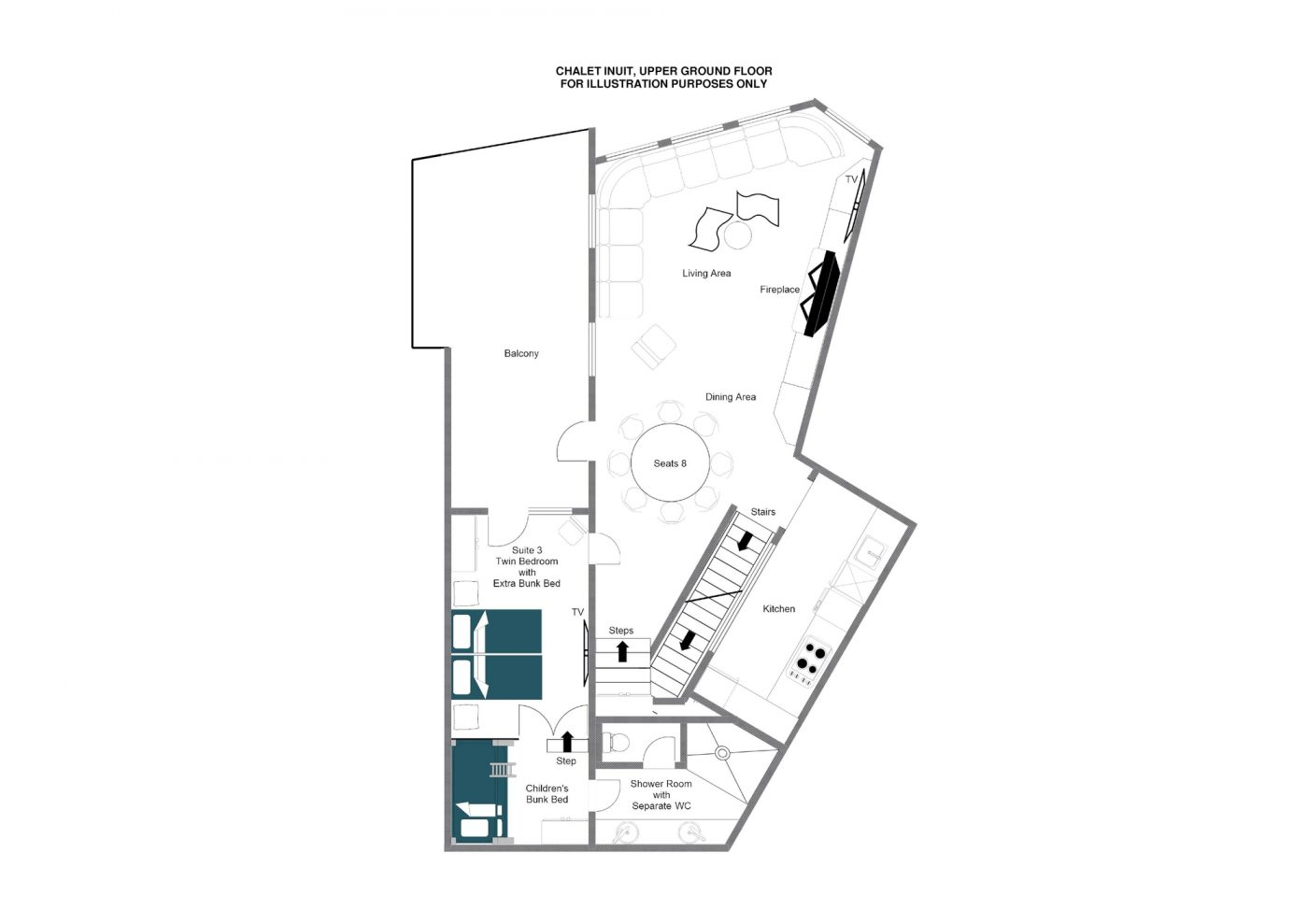 Chalet Inuit (Contactless Chalet Catering) Val d'Isere Floor Plan 2