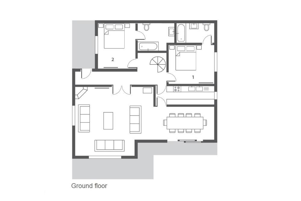 Chalet Dharkoum Kalo (Contactless Chalet Catering) Courchevel Floor Plan 2