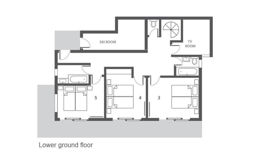 Chalet Dharkoum Kalo (Contactless Chalet Catering) Courchevel Floor Plan 1