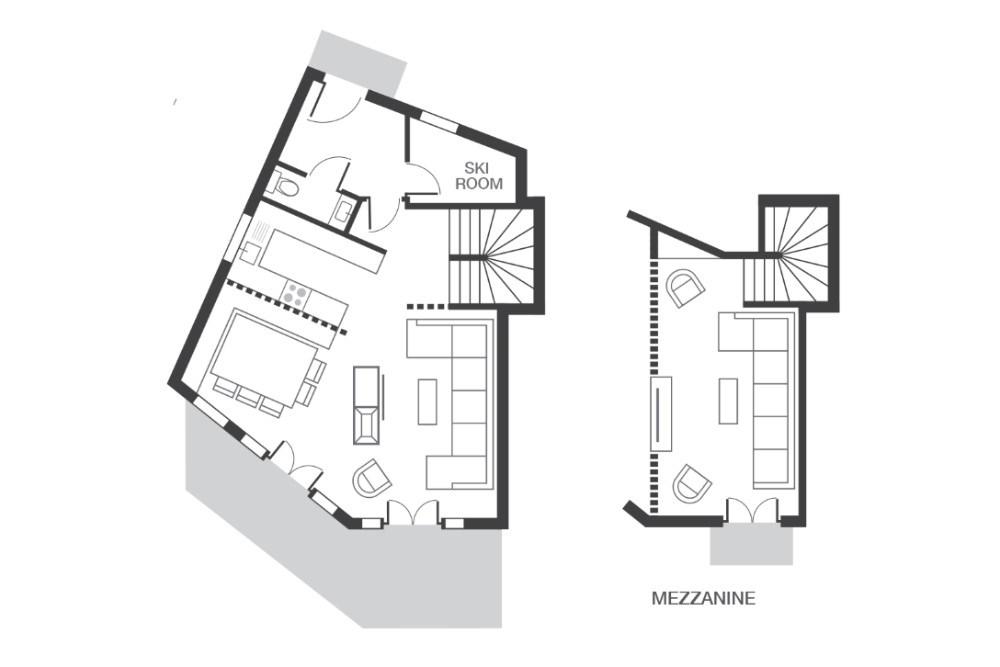 Chalet Kobuk Avoriaz Floor Plan 1
