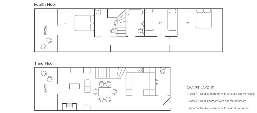 Chalet Sabrina Verbier Floor Plan 1