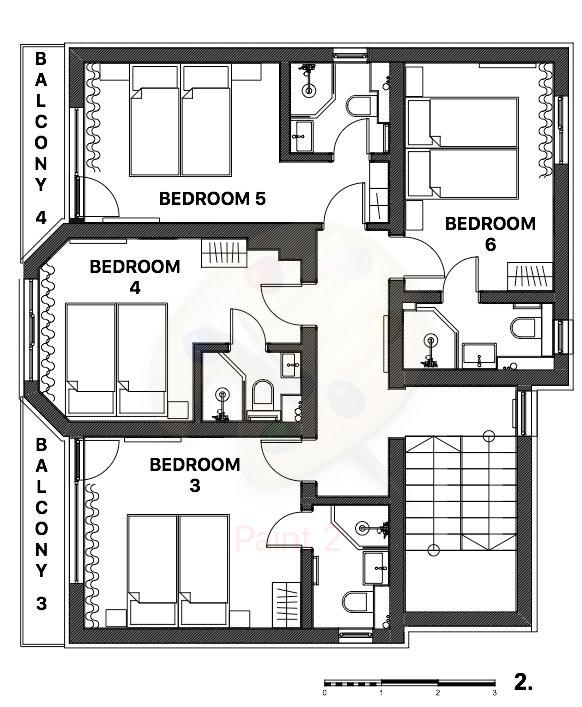 Snowflake Chalet Bansko Floor Plan 1