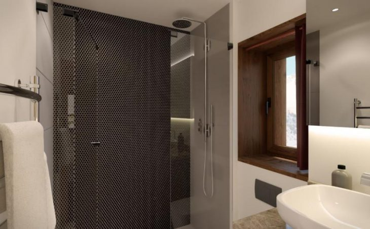 Aspen House Loft 1, Val d'Isere, Shower Room