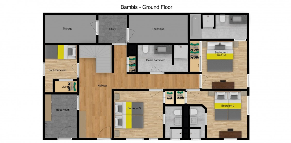 Chalet Bambis Meribel Floor Plan 1