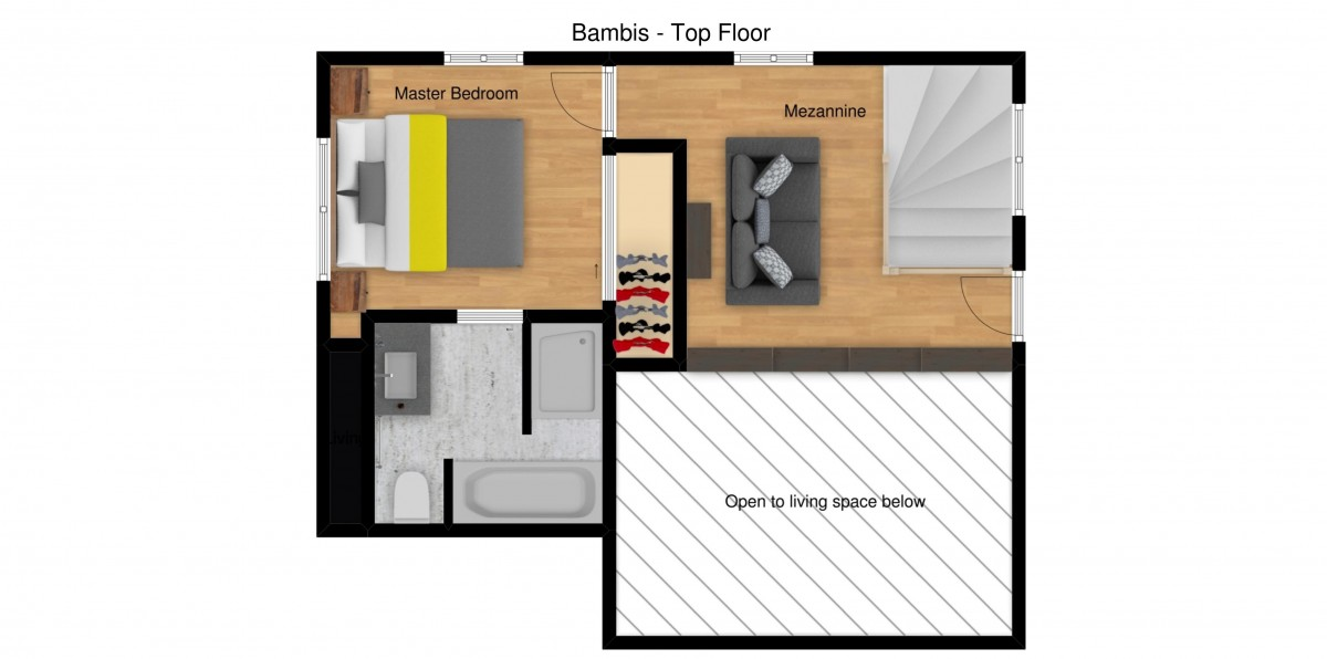 Chalet Bambis Meribel Floor Plan 2