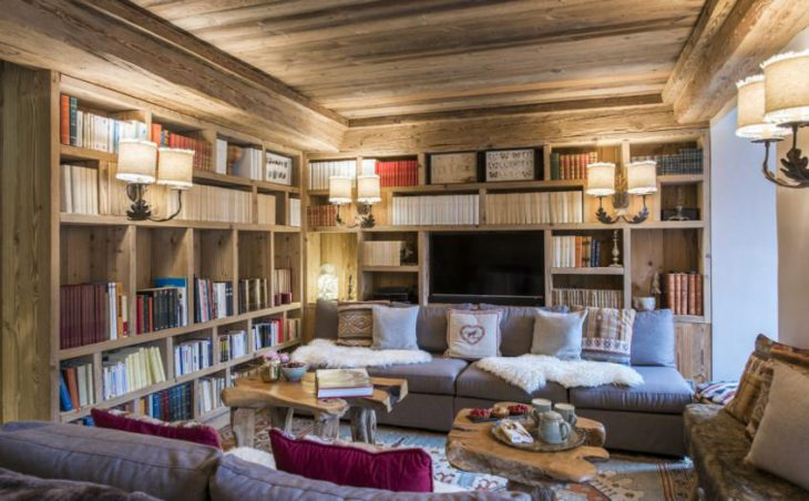 Chalet Barmettes, Val d'Isere, Library Lounge