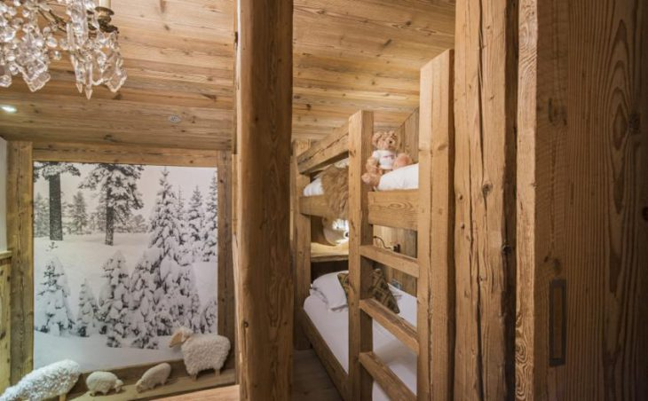 Chalet Barmettes, Val d'Isere, Bunk Bedroom