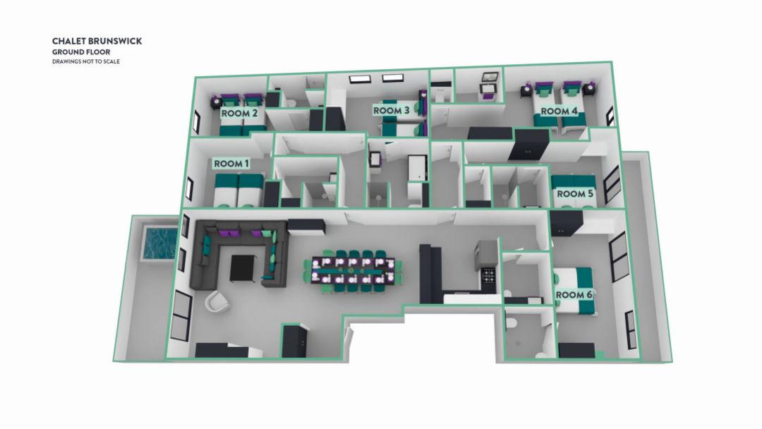 Chalet Brunswick Val d'Isere Floor Plan 1