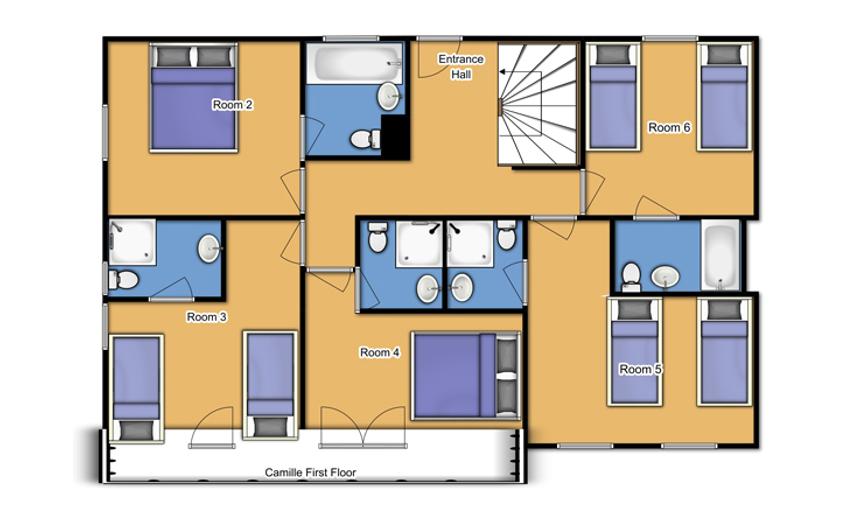 Chalet Camille Tignes Floor Plan 1