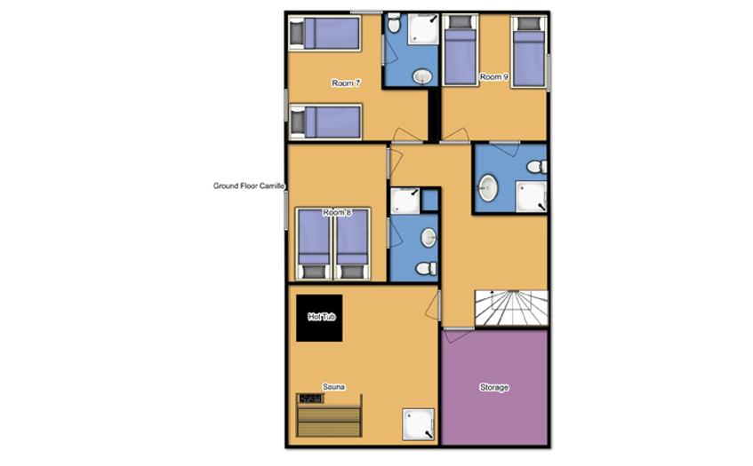 Chalet Camille Tignes Floor Plan 2