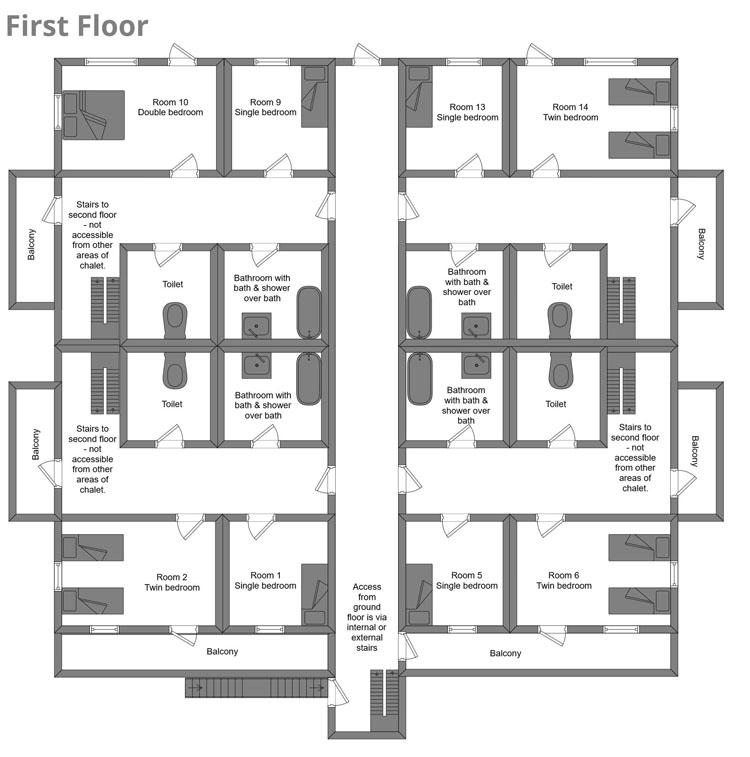 Chalet Campanules La Plagne Floor Plan 1
