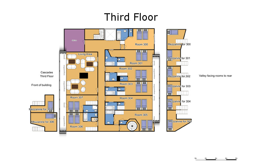 Chalet Cascades Courchevel Floor Plan 2