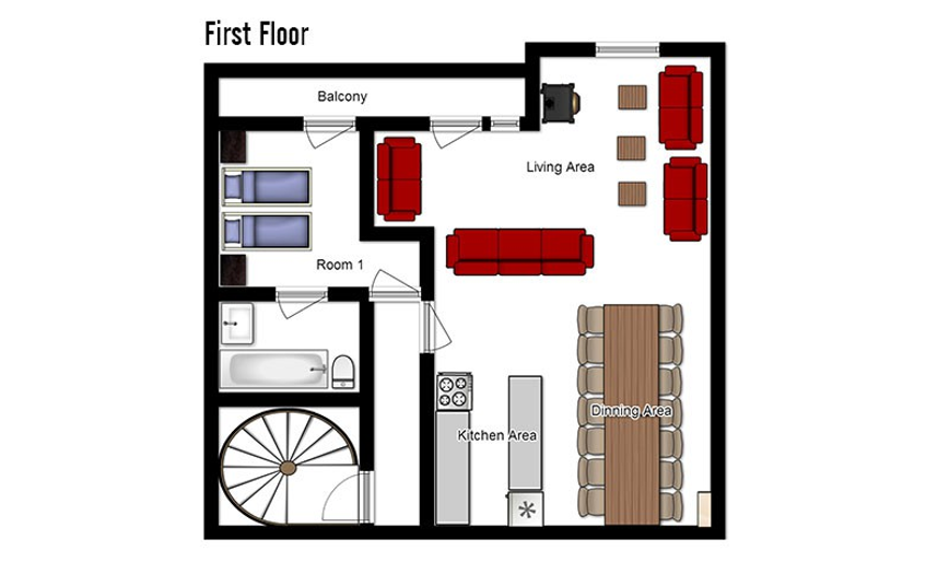 Chalet Abricot Val Thorens Floor Plan 4