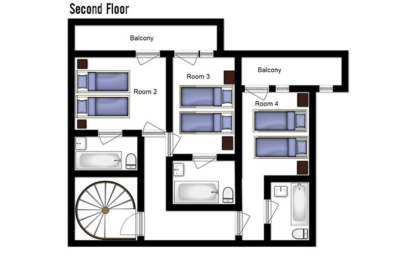Chalet Abricot Val Thorens Floor Plan 3