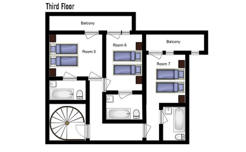 Chalet Abricot Val Thorens Floor Plan 2