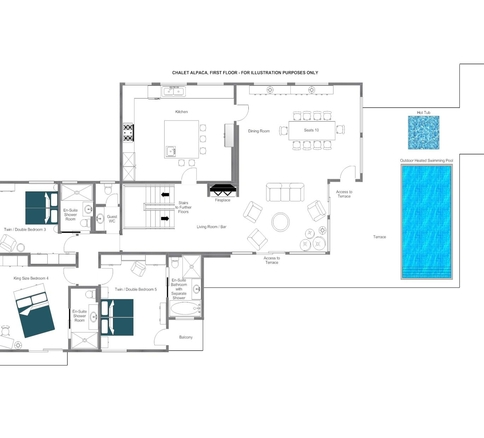 Chalet Alpaca Meribel Floor Plan 1