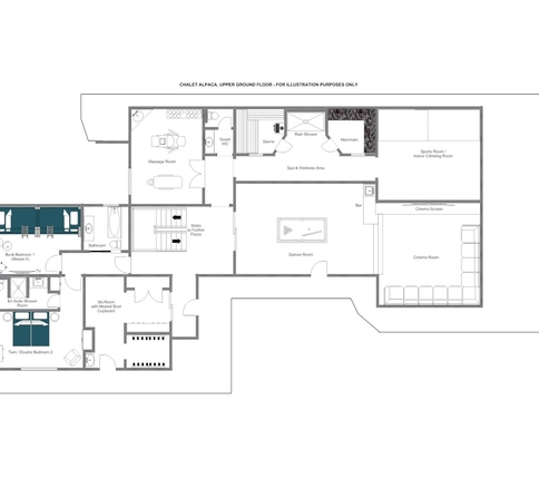 Chalet Alpaca Meribel Floor Plan 2
