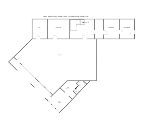 Chalet Alpaca Meribel Floor Plan 4