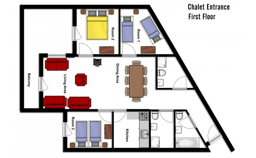 Chalet Aries Val Thorens Floor Plan 2