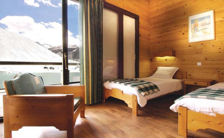 Chalet Atlas, Tignes, France, twin bedded room
