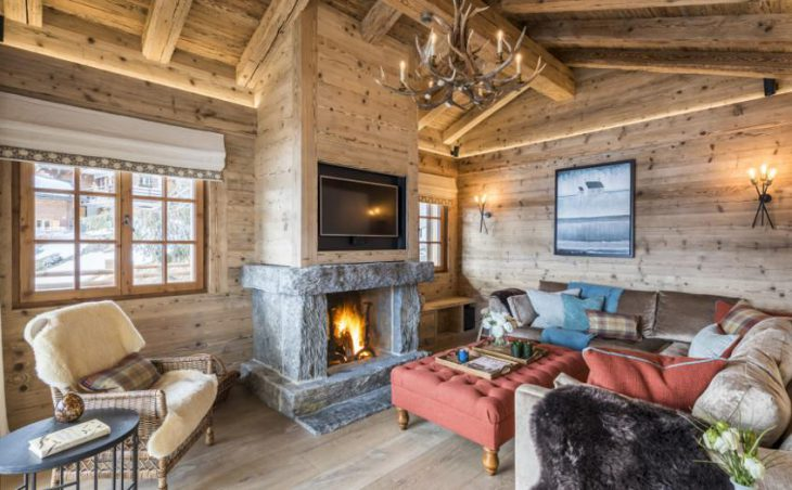 Chalet Bioley, Verbier, Fireplace