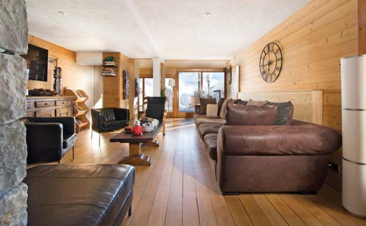 Chalet Cairn, Tignes, France, lounge area