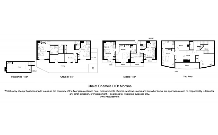 Chalet Chamois D'Or Morzine Floor Plan 1