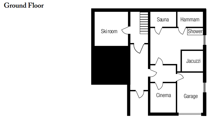 Chalet Chopine Meribel Floor Plan 4