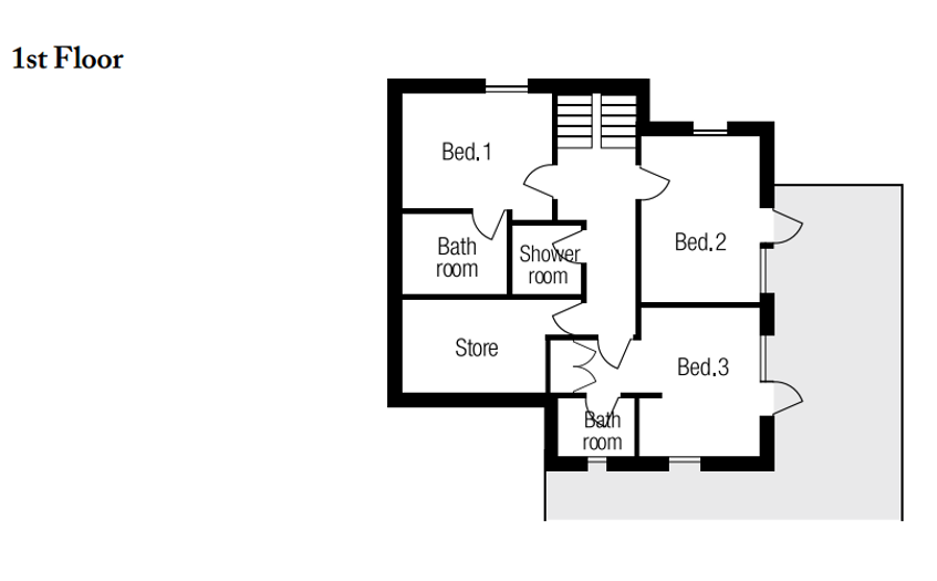 Chalet Chopine Meribel Floor Plan 3