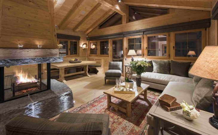 Chalet Chouqui, Verbier, Lounge with Fire Place