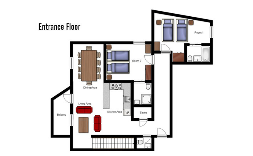 Chalet Escamillo Tignes Floor Plan 3