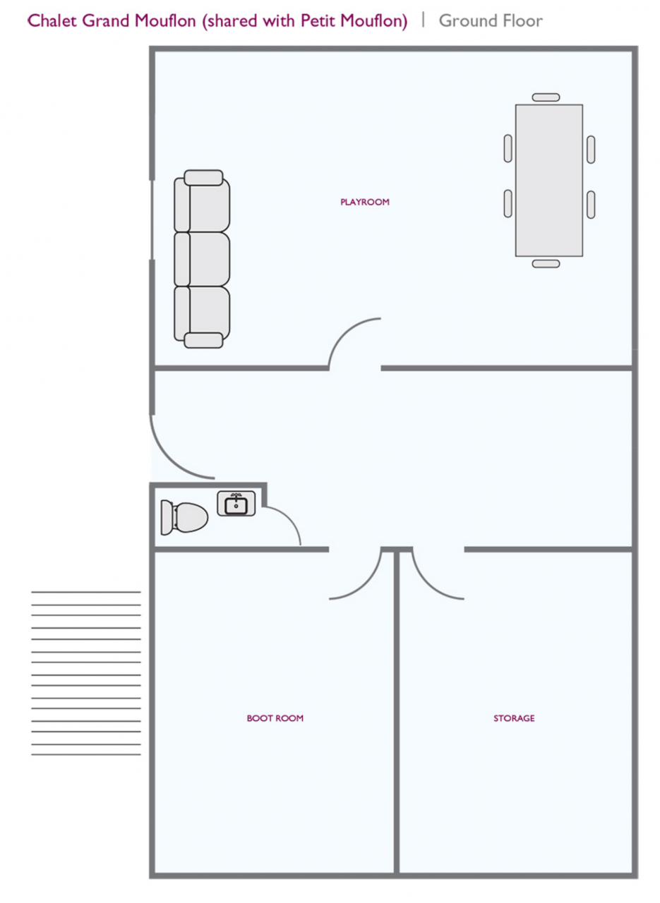 Chalet Grand Mouflon (Family) Les Gets Floor Plan 1