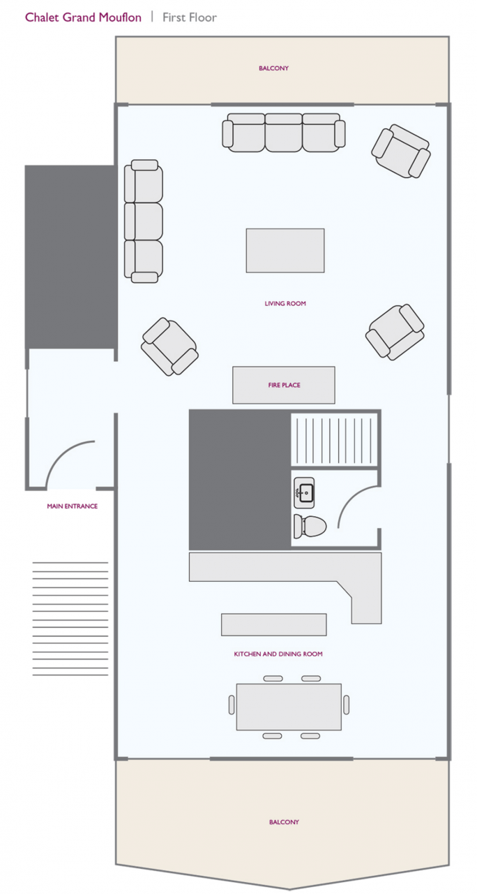Chalet Grand Mouflon (Family) Les Gets Floor Plan 2