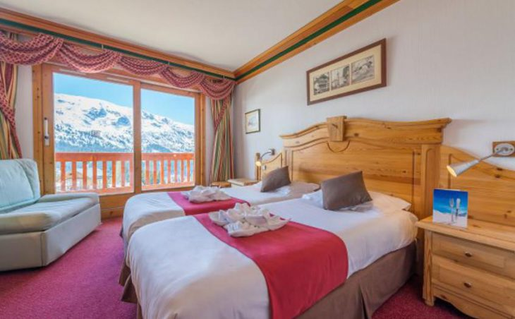 Chalet Hotel Alba, Meribel, Bedroom