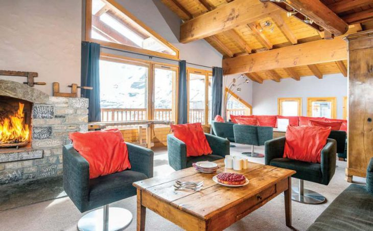 Chalet hotel Rosset, Tignes, France, relaxation area