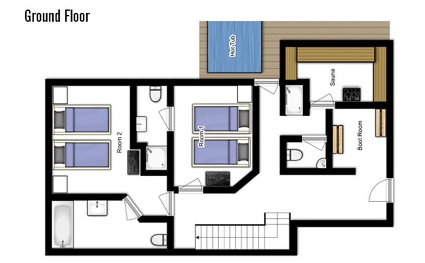 Chalet Jacques Courchevel Floor Plan 4