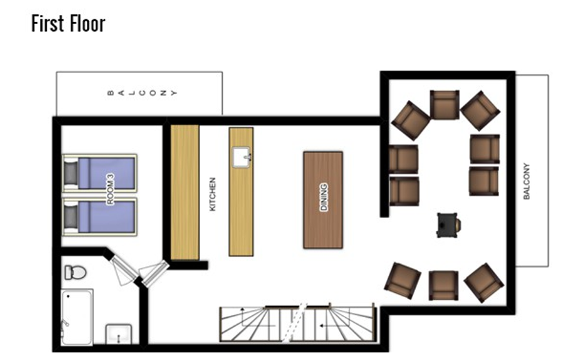 Chalet Jacques Courchevel Floor Plan 3