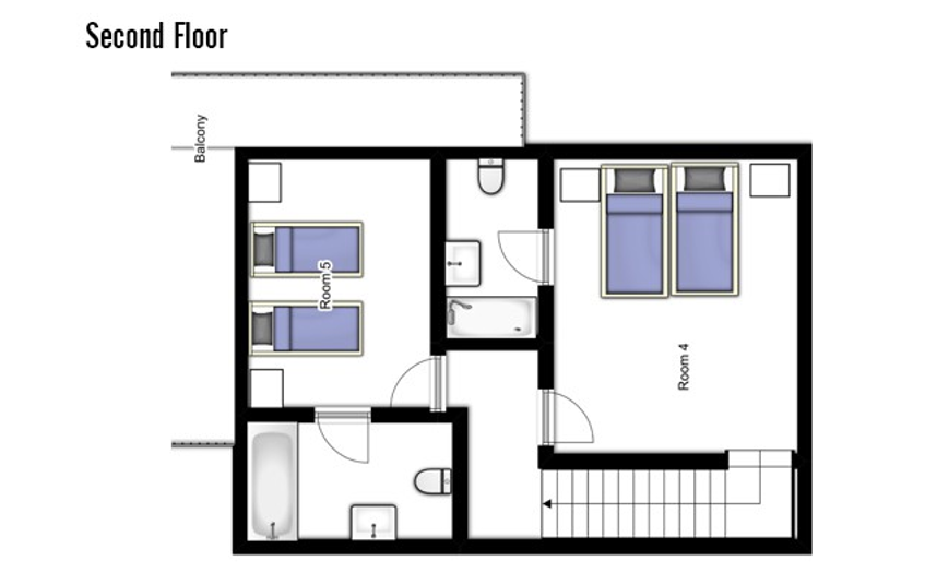 Chalet Jacques Courchevel Floor Plan 2