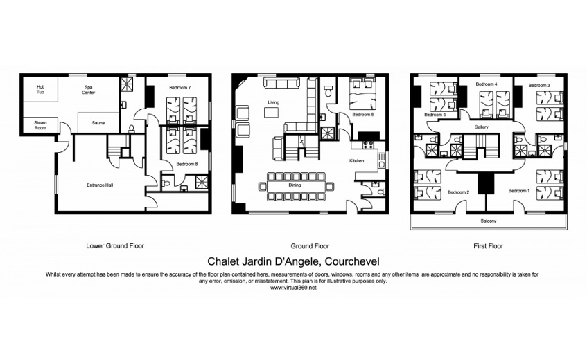 Chalet Jardin d'Angele Courchevel Floor Plan 1