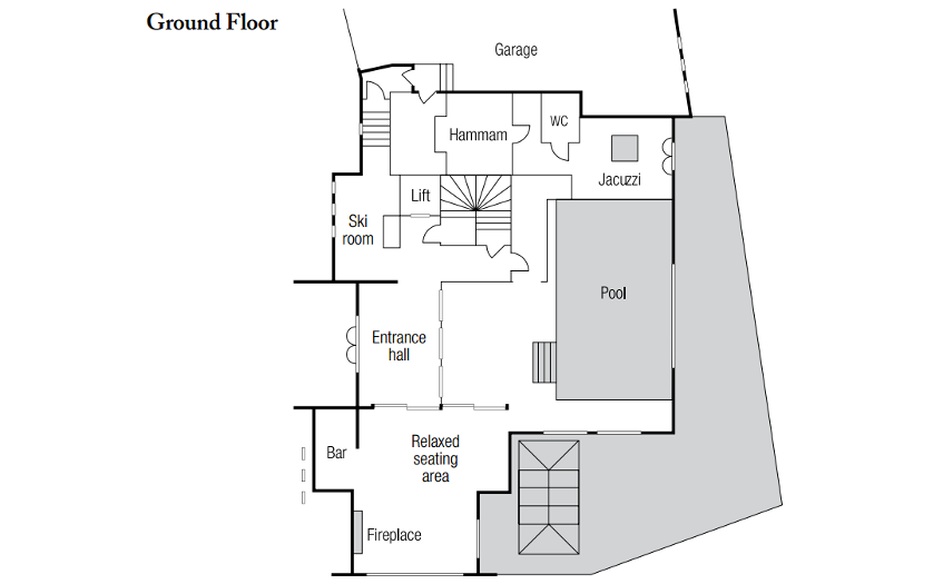 Chalet Marco Polo Val d'Isere Floor Plan 3