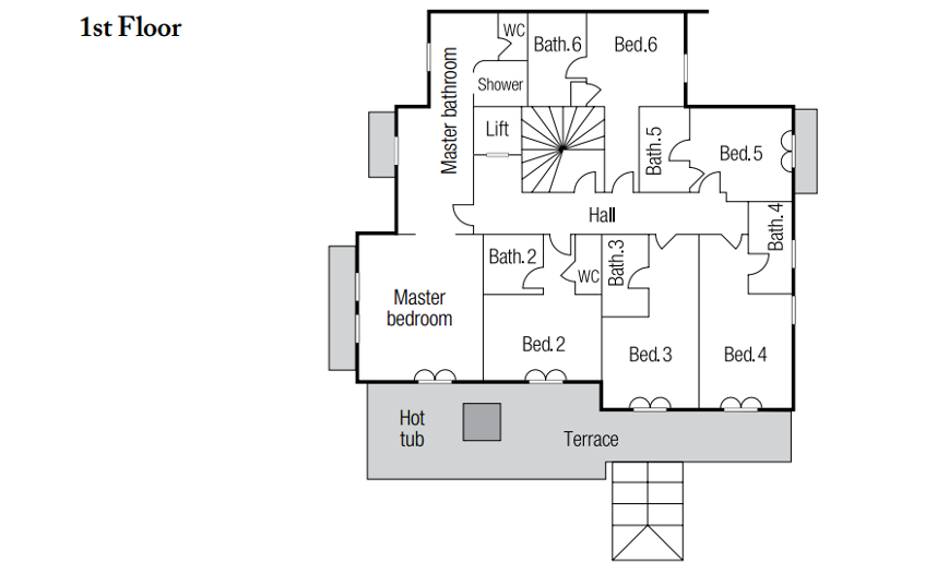 Chalet Marco Polo Val d'Isere Floor Plan 2