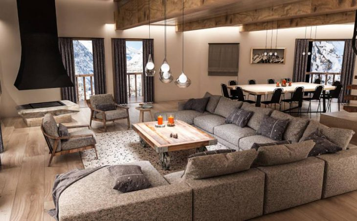 Chalet O Valala, Val d'Isere, Lounge