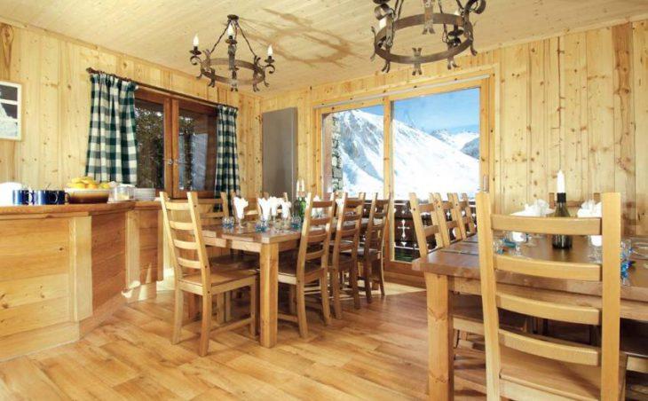 Chalet Les Arolles, Tignes, France, dining room