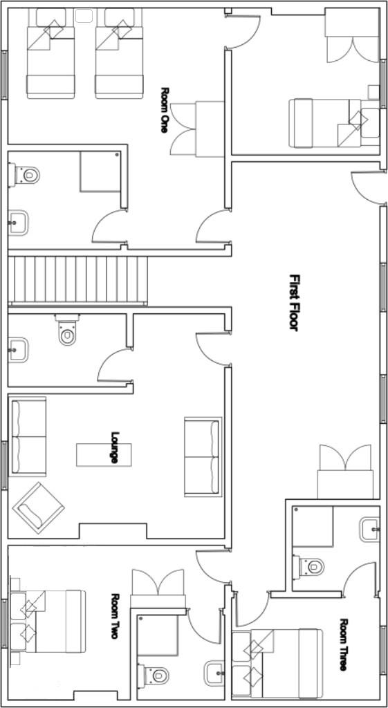 Chalet Mila Bansko Floor Plan 1
