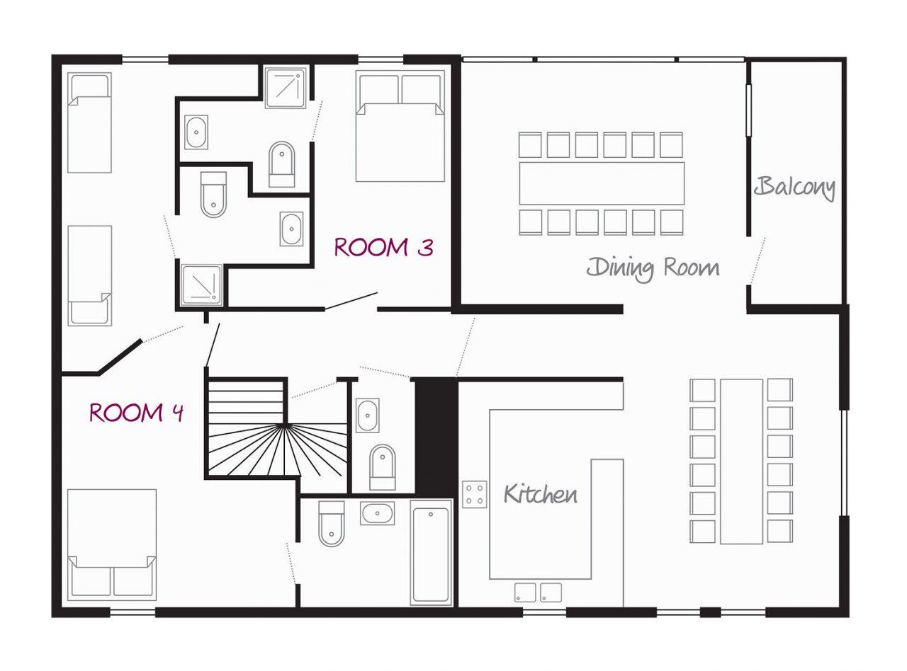 Chalet Monet (Family) Les Gets Floor Plan 1