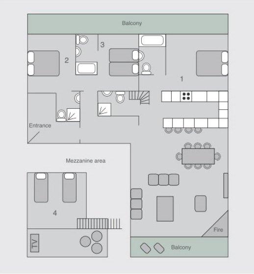 Chalet Sophia Verbier Floor Plan 1