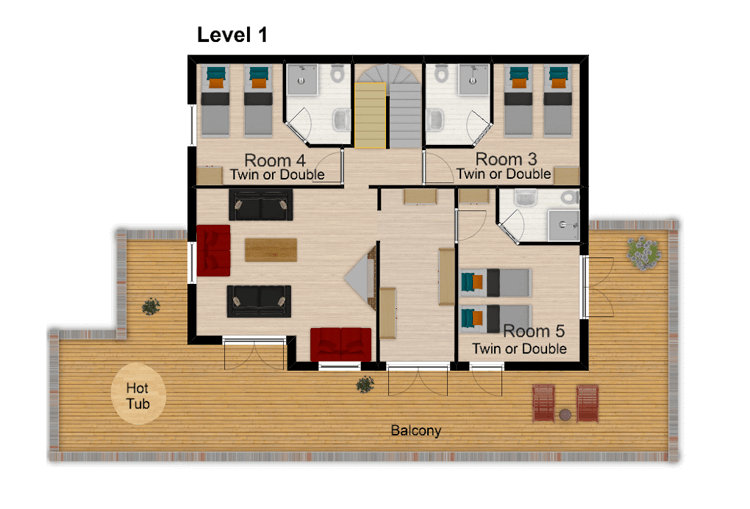 Chalet Amelie Val d'Isere Floor Plan 2